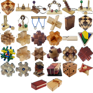 Group Special - a set of 40 wood puzzles