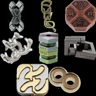 .Level 10 - a set of 8 Hanayama puzzles