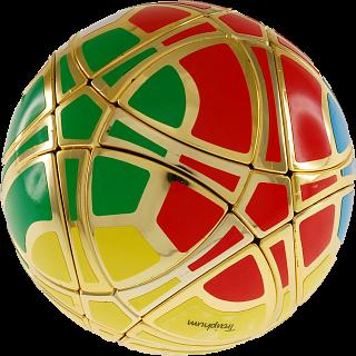 Traiphum Megaminx Ball - (6-Color) Metallized Gold