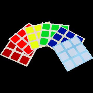 3x3x3 Full-Bright Sticker Set