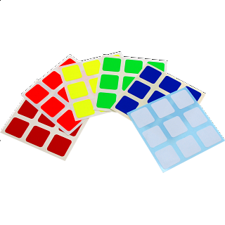 3x3x3 Full-Bright Sticker Set
