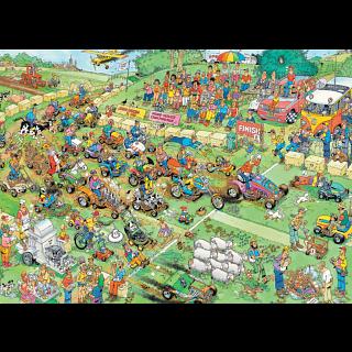 Jan van Haasteren Comic Puzzle - Lawn Mower Race