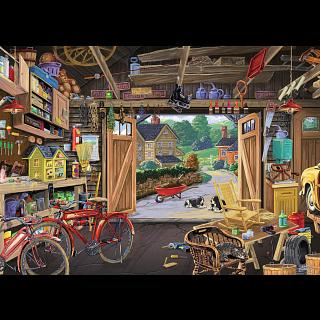 Grandpa's Garage - Large Piece Format