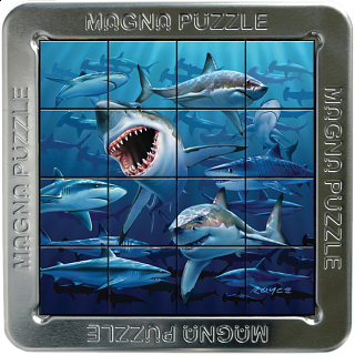 Magna 3D Lenticular Puzzle: Sharks