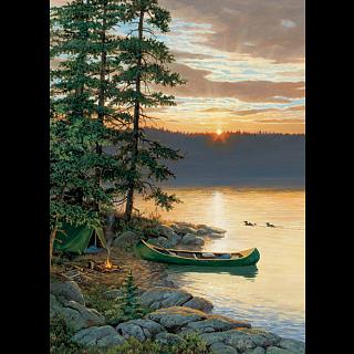 Canoe Lake - Large Piece