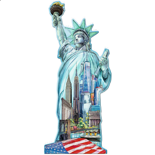 Silhouette Puzzle - Statue of Liberty, New York