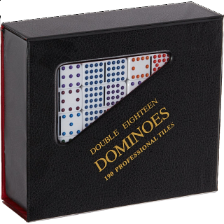 Mexican Train Domino Set - Double 18 Professional (DOTS)