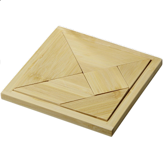 Puzzle Solution for Tangram - Bamboo