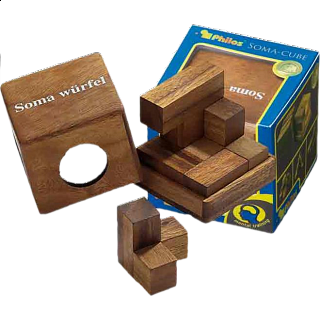 Puzzle Solution for Soma Cube - Large