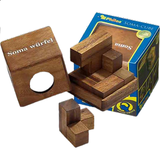 Puzzle Solution for Soma Cube - Small