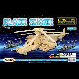 Black Shark - 3D Wooden Puzzle