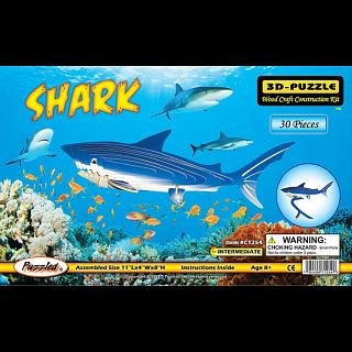 Shark - Illuminated 3D Wooden Puzzle