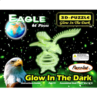 Eagle - Glow In The Dark - 3D Puzzle