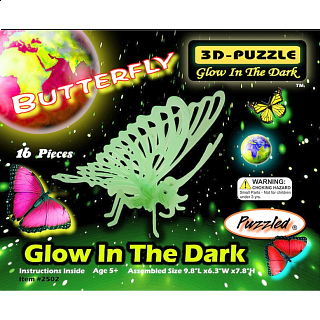 Butterfly - Glow In The Dark - 3D Puzzle