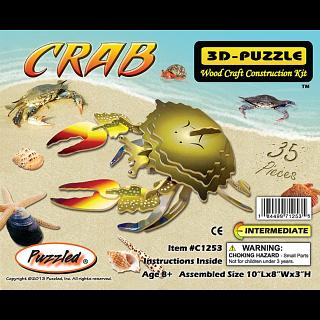 Crab - Illuminated 3D Wooden Puzzle