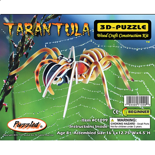 Tarantula - Illuminated 3D Wooden Puzzle