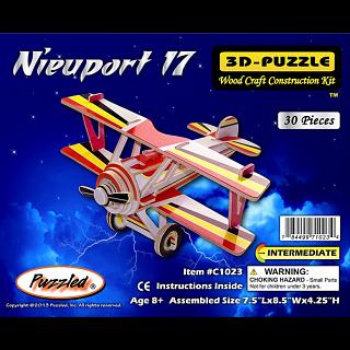 Nieuport 17 - Illuminated 3D Wooden Puzzle