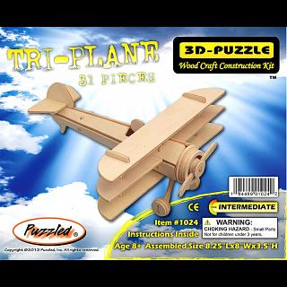 Tri-Plane - 3D Wooden Puzzle