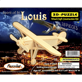 Spirit of St. Louis - 3D Wooden Puzzle