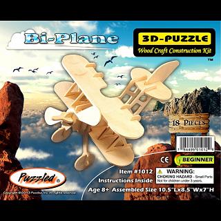 Bi-Plane - 3D Wooden Puzzle
