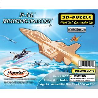 F-16 Fighting Falcon - 3D Wooden Puzzle