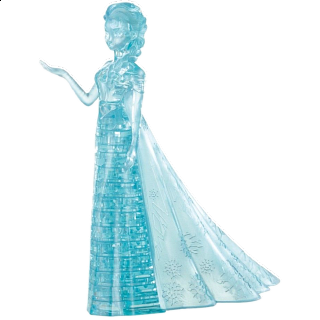 Puzzle Solution for 3D Crystal Puzzle - Elsa