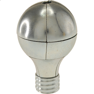 Magnetic Light Bulb Puzzle - Silver