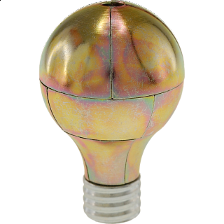 Magnetic Light Bulb Puzzle - Gold