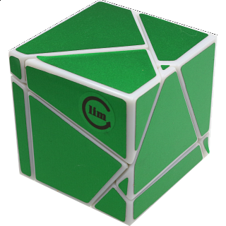 limCube Ghost Cube 2x2x2 - White Body with Green labels