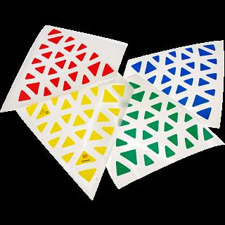 Professor Pyraminx Sticker Set