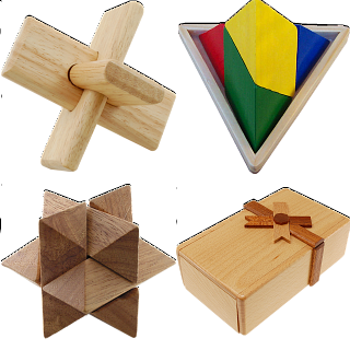 .Level 7 - a set of 5 wood puzzles