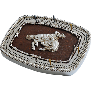Cribbage Board - Bronco Buckle