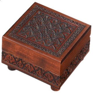 Wooden Carved Puzzle Box