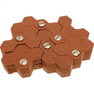 Puzzle Solution for Tetrahex-Twinform
