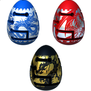 Group Special - A Set of 3 Smart Egg 2-Layer Labyrinth Puzzles