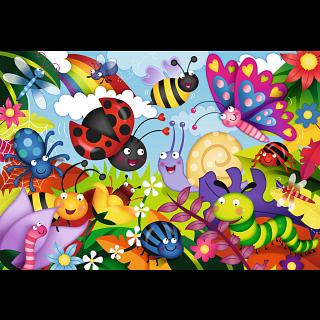 Cute Bugs - Super Sized Floor Puzzle