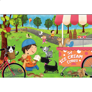 Dogs Love Ice Cream - Super Sized Floor Puzzle