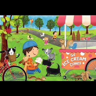 Dogs Love Ice Cream - Super Sized Floor Puzzle