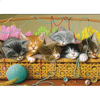 Kittens in Basket - Tray Puzzle