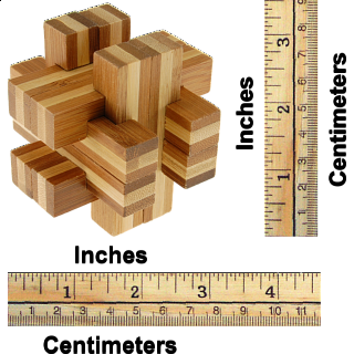 Bamboo Wood Puzzle - Cross Roads