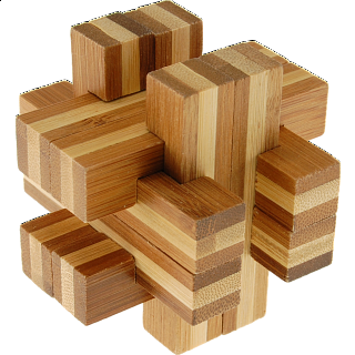 Puzzle Solution for Bamboo Wood Puzzle - Cross Roads
