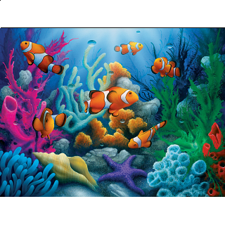 Tropics - Here Come the Clowns - EZ Grip Large Piece Puzzle