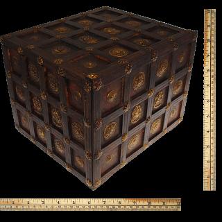 Wooden Cube Design Puzzle Box #1