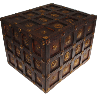 Puzzle Solution for Wooden Cube Design Puzzle Box #1