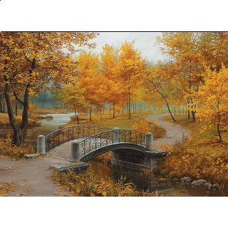 Eugene Lushpin - Autumn In An Old Park