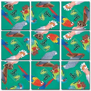 Puzzle Solution for Scramble Squares - Parrots