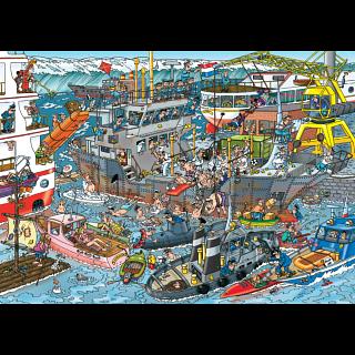 Jan van Haasteren Comic Puzzle - Sea Port