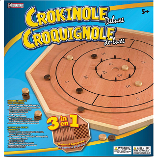 Crokinole 3 in 1 Deluxe Game Board Set