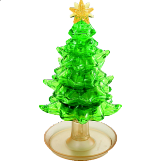 Puzzle Solution for 3D Crystal Puzzle Deluxe - Christmas Tree