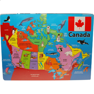 Canada: Wooden Tray Puzzle